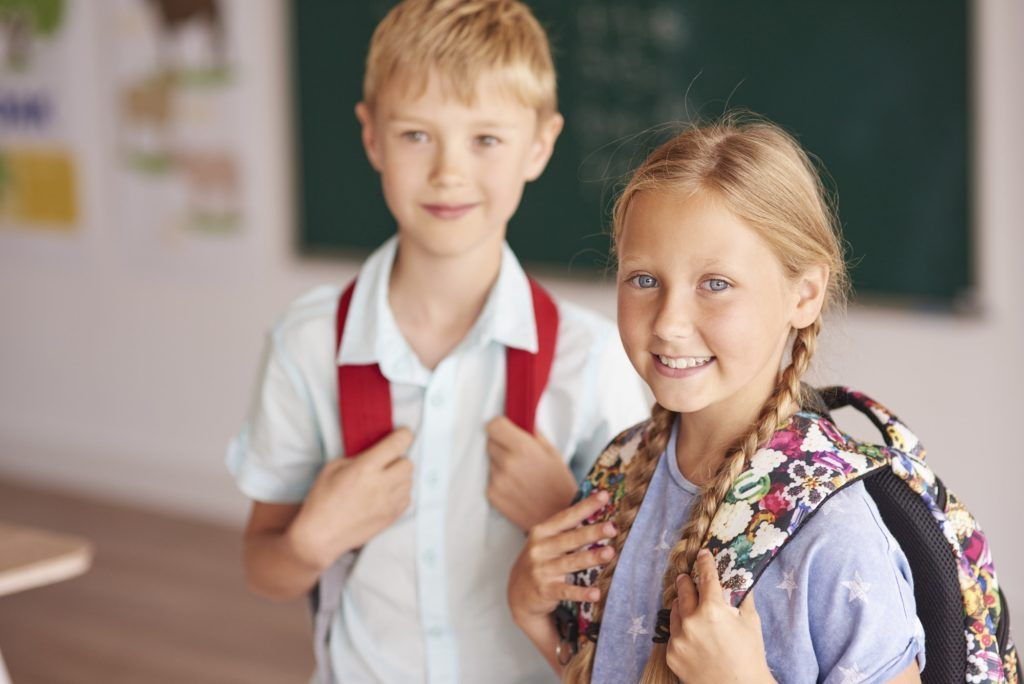 Two students in the class
