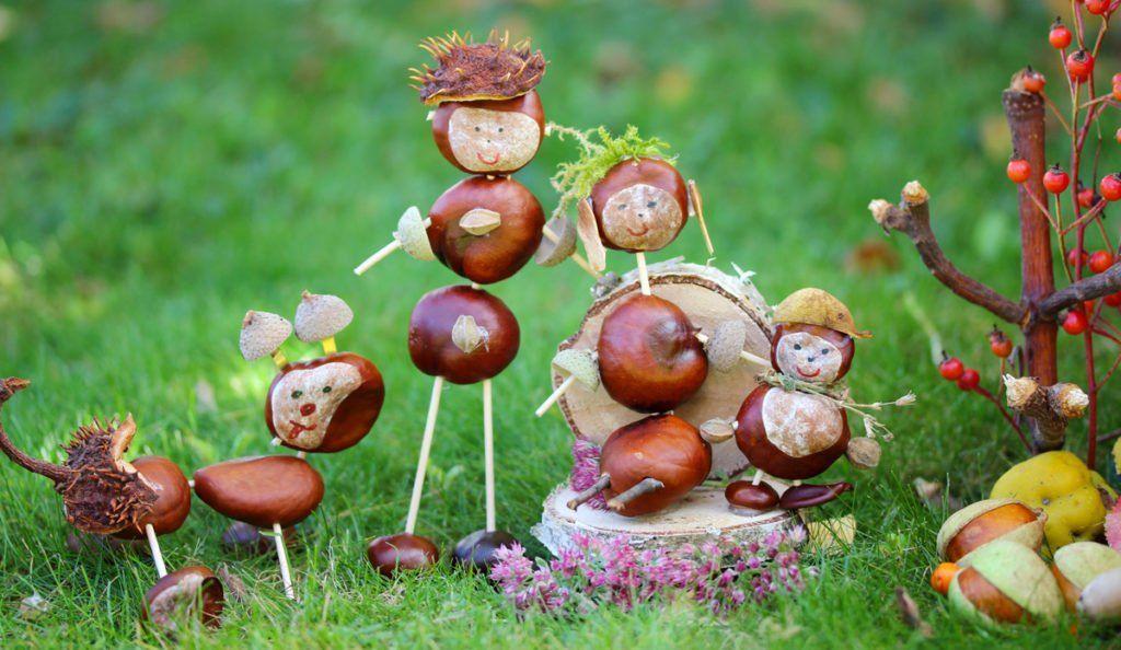 Macht mit beim großen Kastanien- und Eichelfiguren-Basteln